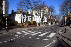 Zebra crossing Abbey Road studios Stock Photos