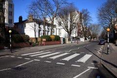 Zebra crossing Abbey Road studios Stock Photos