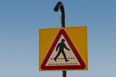 Zebra crossing ahead Stock Images