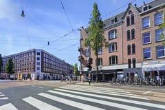Zebra crossing in Amsterdam city center, Netherlands. Royalty Free Stock Photos