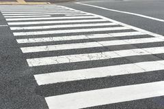 Zebra crossing Stock Photos