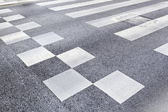 Zebra crossing in the city Royalty Free Stock Photos