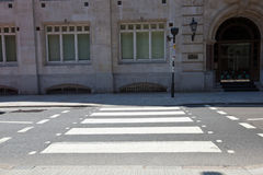 Zebra Crossing in the day royalty free stock images