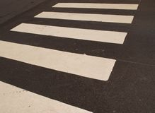 Zebra crossing direction Stock Photos