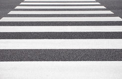 Zebra crossing from empty street Stock Images