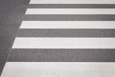 Zebra crossing from empty street Stock Photography