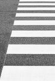 Zebra crossing from empty street Royalty Free Stock Image