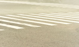 Zebra crossing lines Royalty Free Stock Photography