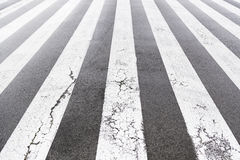 Zebra crossing painted on asphalt Stock Photography