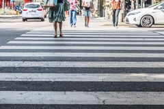 Zebra crossing Stock Photography