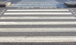 Zebra crossing. A photo of a zebra crossing Royalty Free Stock Photography