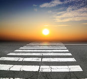 Zebra crossing road Royalty Free Stock Images