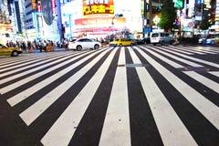 Zebra crossing Shinjuku Tokyo Japan Royalty Free Stock Images