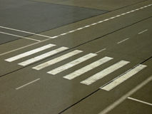 Zebra crossing sign Royalty Free Stock Images