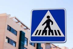 Zebra Crossing Sign Stock Images