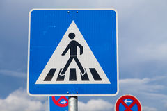Zebra crossing sign Royalty Free Stock Photo