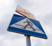 Zebra crossing sign Stock Photo