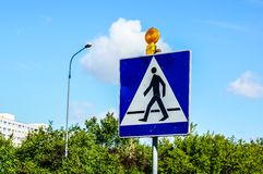 Zebra crossing sign Stock Image