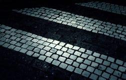 Zebra crossing street. Traffic signs and symbols stock photos