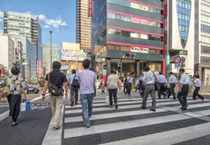 Zebra crossing in Tokyo Stock Photography
