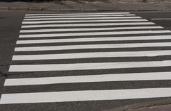 Zebra crossing traffic walk way road Stock Image