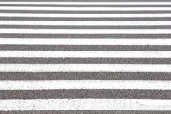 Zebra crosswalk. Close - up zebra crosswalk on the road Royalty Free Stock Photo