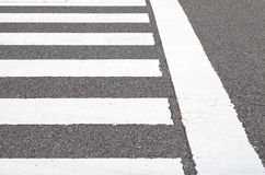Zebra crosswalk Royalty Free Stock Photos