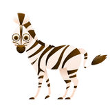 Zebra cute cartoon character Royalty Free Stock Photography