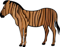 Zebra di legno Fotografie Stock