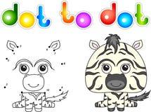 Zebra divertente e sveglia Immagini Stock