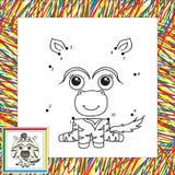 Zebra divertente e sveglia Immagini Stock Libere da Diritti