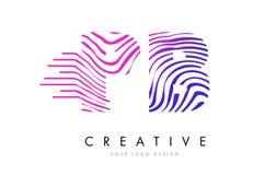 A zebra do PB P B alinha a letra Logo Design com cores magentas Fotos de Stock