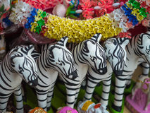Zebra doll for oblation Royalty Free Stock Photography