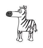 Zebra dos desenhos animados ilustração do vetor