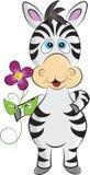 Zebra dos desenhos animados Imagens de Stock