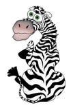 Zebra dos desenhos animados Fotos de Stock
