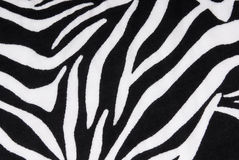 Zebra fabric texture background Stock Images