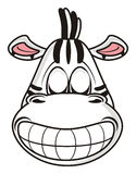 Zebra face smiling broadly Royalty Free Stock Photography