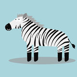 Zebra felice del fumetto Fotografia Stock