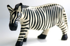 Zebra figure. Carved zebra royalty free stock photo