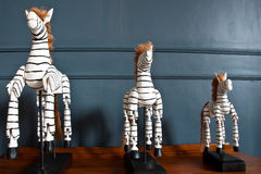 Zebra figurines Royalty Free Stock Photos