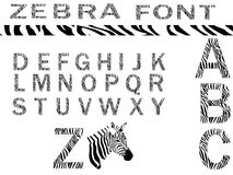 Zebra font vector Stock Photos