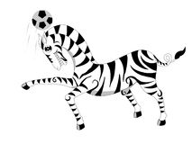 Zebra.football Stock Photo