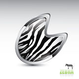 Zebra footprint button Stock Photos