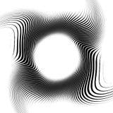 Zebra frame, Black stripes on white background, circle Royalty Free Stock Photos