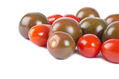 Zebra and Grape Cherry Tomatoes Stock Image