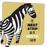 Zebra hand drawn illustration. Vector illustration. Can be used for your design, cards, magnets etc stock illustration