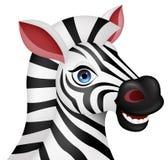 Zebra head cartoon Royalty Free Stock Photography