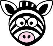 Zebra, Head, Stupid, Cartoon, Black Royalty Free Stock Photos