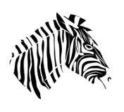 Zebra head tattoo Royalty Free Stock Photography